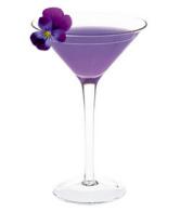 Paars drankje met viooltje